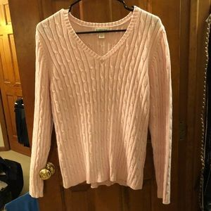 Light pink cable knit sweater